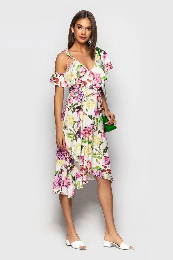 Яркое летнее платье Ассиметрия 4005