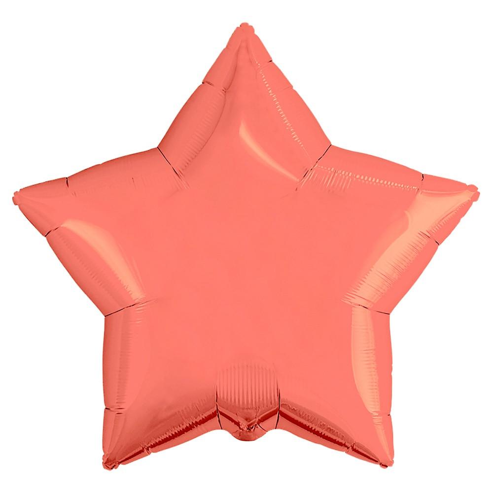 Agura Фольгированный Шар 21''/53 см, Звезда, Коралловый