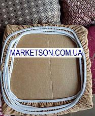 Чехлы на табуретки комплект 4 шт на резинке (сидушка на табурет, стул) №11, фото 2