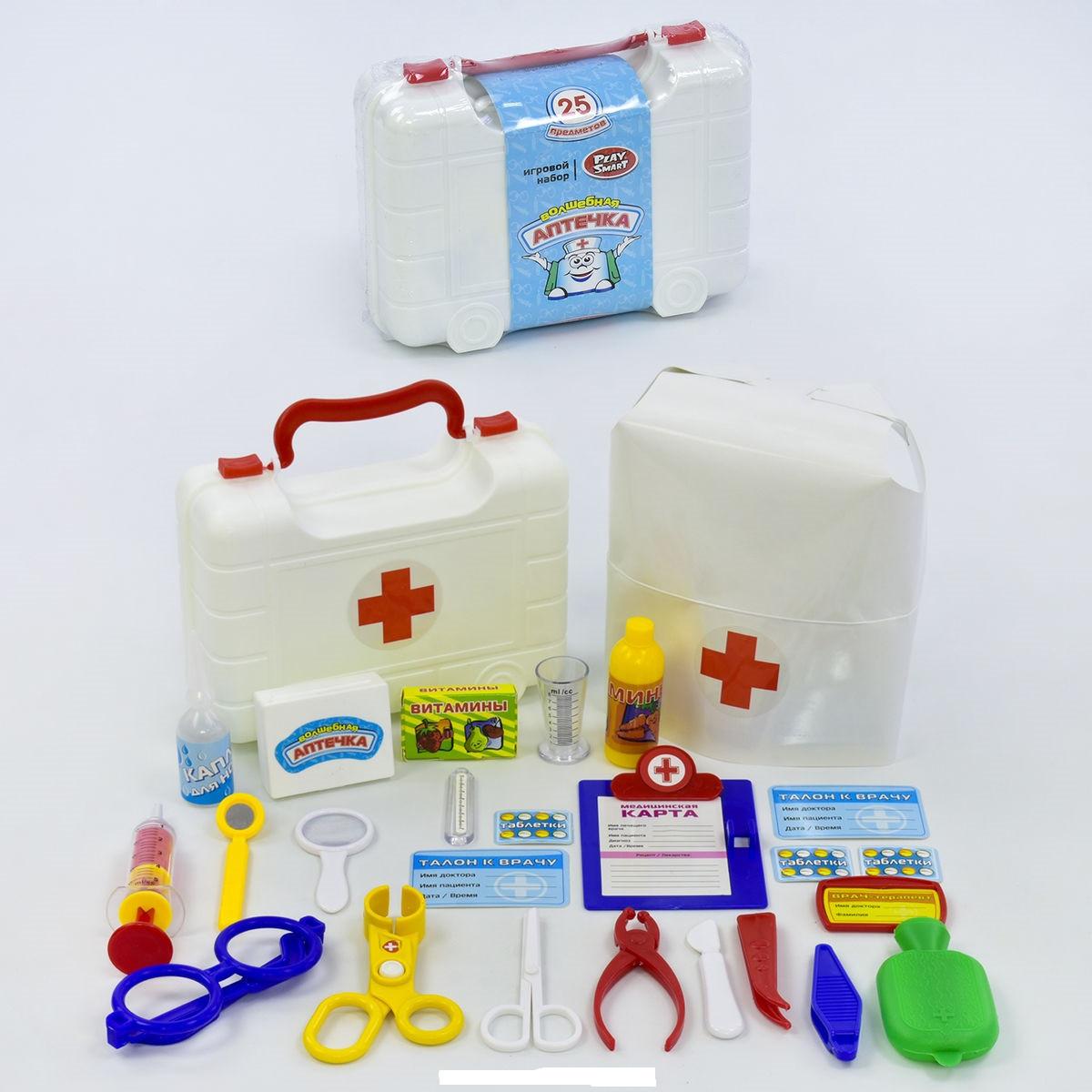 Игровой набор Доктор Волшебная аптечка 24 предмета Play Smart 2550