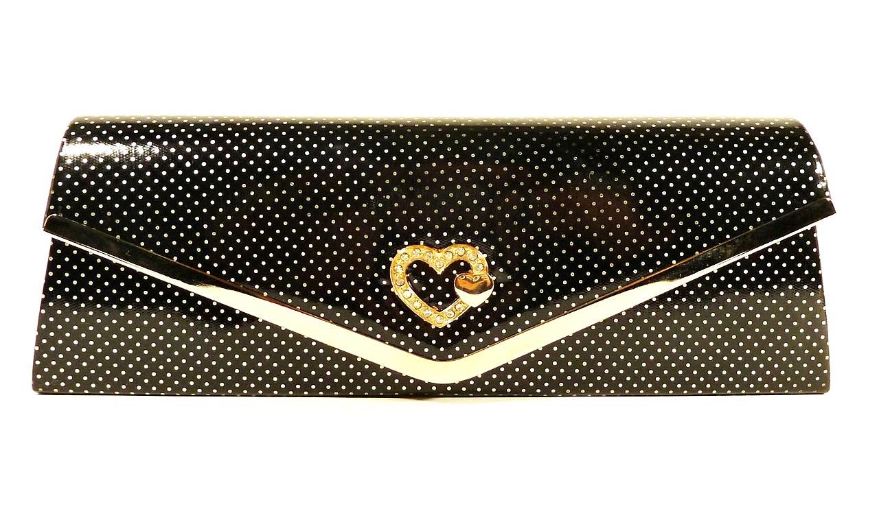 Клатч лаковый женский Rose Heart 102510