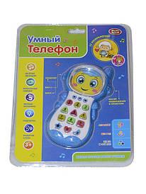 Умный телефон Play Smart музыка, проектор, цифры, буквы, цвет голубой (7483)