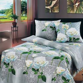 Постельное белье Top Dreams Cotton белые розы полуторного размера