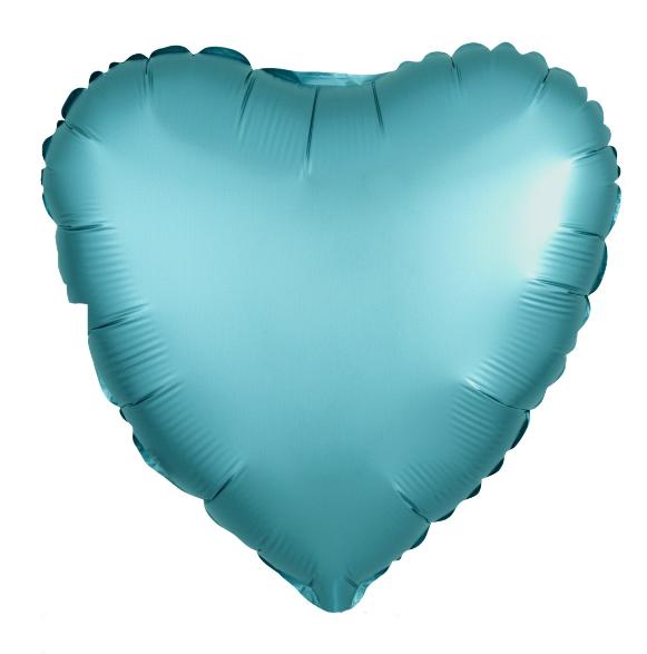 Agura Фольгированный Шар 19''/48 см, Сердце, Тиффани, Сатин
