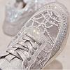Кроссовки женские серебристые в камнях, фото 7