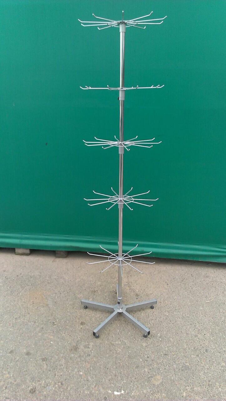 Вешалка Стойка РОМАШКА напольная Украина,ромашки и крестовина окрашены в серый цвет,труба хром.
