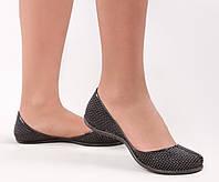 Женские силиконовые балетки, аквашузы, коралки, черный, обувь силиконовая
