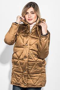Куртка женская на кнопках и молнии, высокий ворот 68PD503 (Горчичный)