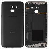 Задня панель корпуса для смартфону Samsung J600F Galaxy J6, чорна