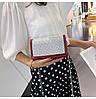 Красная лаковая женская сумка, фото 6