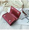 Красная лаковая женская сумка, фото 8