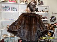 Норковый полушубок авто-леди из натуральной цельной норки 46 48 размер шуба цельная норка, фото 1