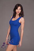 Летнее женское платье мини в ярких цветах