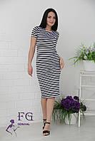 Платье тельняшка с короткими рукавами