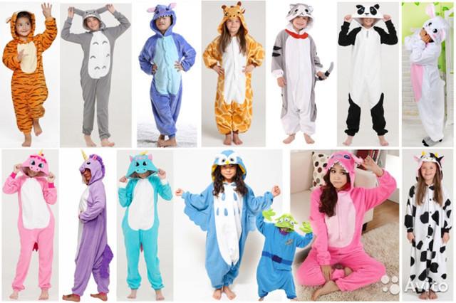Оригинальные пижамы кигуруми для взрослых и детей