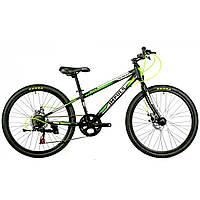 """Велосипед IMPULS COLORADO 24"""" Рама 11.5"""" черно-салатовый"""