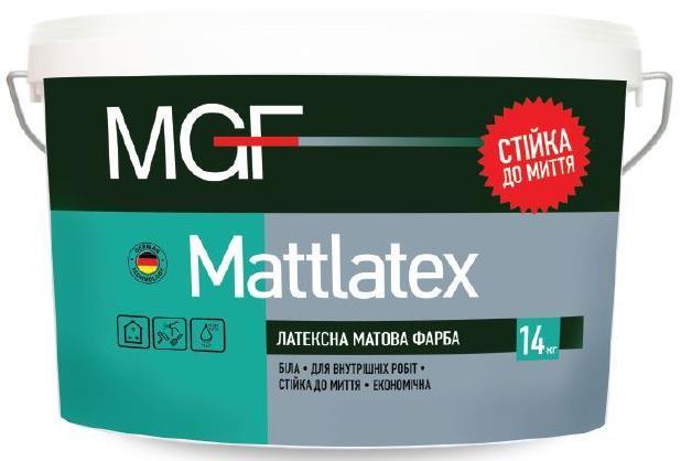 Краска MGF М100 Mattlatex 1,4кг