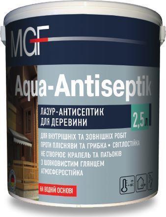 Лазурь-антисептик Аква ант-тик MGF 2,5л ОРЕХ