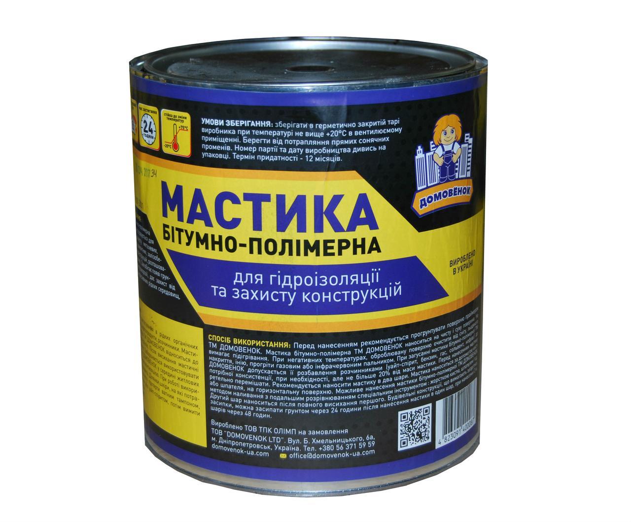 Мастика ALPITEC битумно-полимерная гидро. 10л