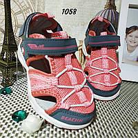 Детские босоножки, сандалии, для девочки. Текстильные. 29 размер