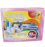 Салфетка вискозная для уборки 30×38 см (уп. 10 шт/уп) Vivat