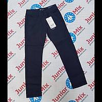 Подростковые синие котоновые брюки для мальчиков в мелкую клеточку опто GRACE