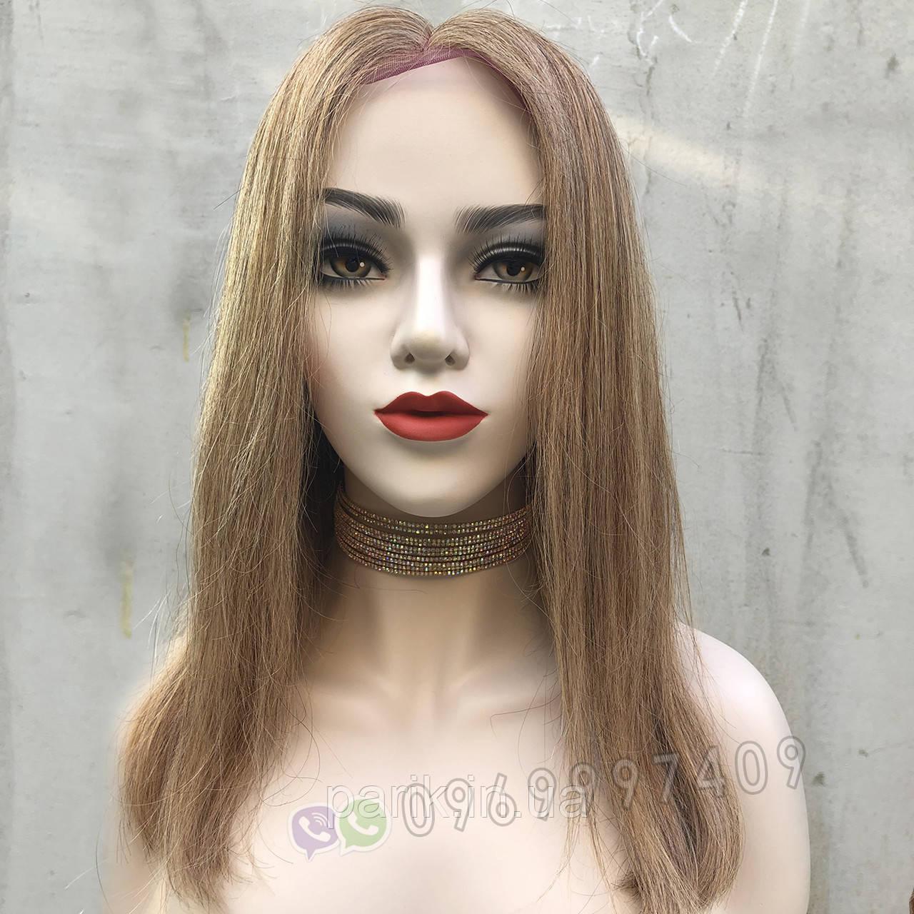 💥 Натуральный русый парик на сетке, удлинённое каре 💥