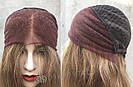 💥 Натуральный русый парик на сетке, удлинённое каре 💥, фото 5