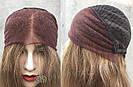 💥 Русый парик на сетке из натуральных волос, удлинённое каре 💥, фото 5