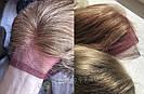 💥 Русый парик на сетке из натуральных волос, удлинённое каре 💥, фото 6