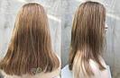 💥 Натуральный русый парик на сетке, удлинённое каре 💥, фото 3