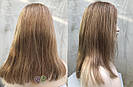 💥 Русый парик на сетке из натуральных волос, удлинённое каре 💥, фото 3