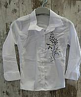 Детская школьная блузка на девочку 6-9 лет
