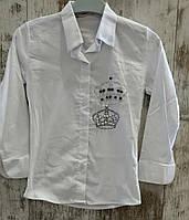 Школьная блузка на девочек 10-13 лет
