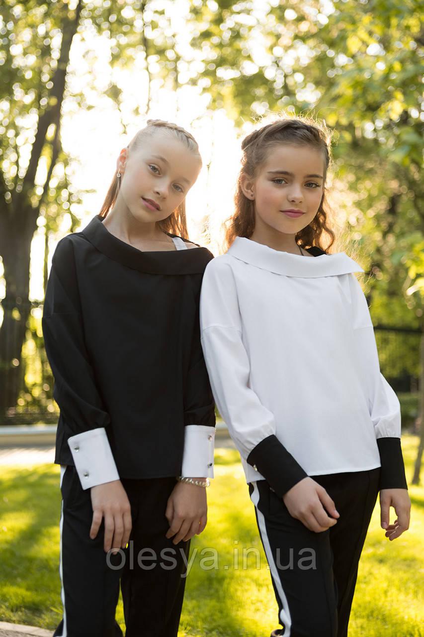 Школьная блуза для девочек sh-49 Barbarris Размеры 134-164