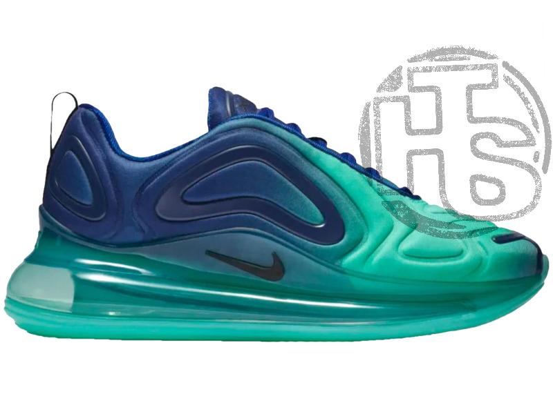 e1103b4c Женские кроссовки Nike Air Max 720 Sea Forest Blue/Black-Hyper Jade AO2924-