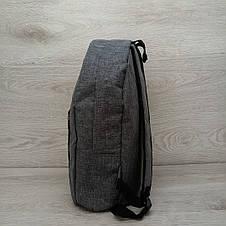 Рюкзак спортивний міської Reebok чоловічий сірий, фото 3