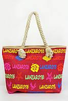 Женская пляжная сумка с принтом и ручками из каната, фото 1