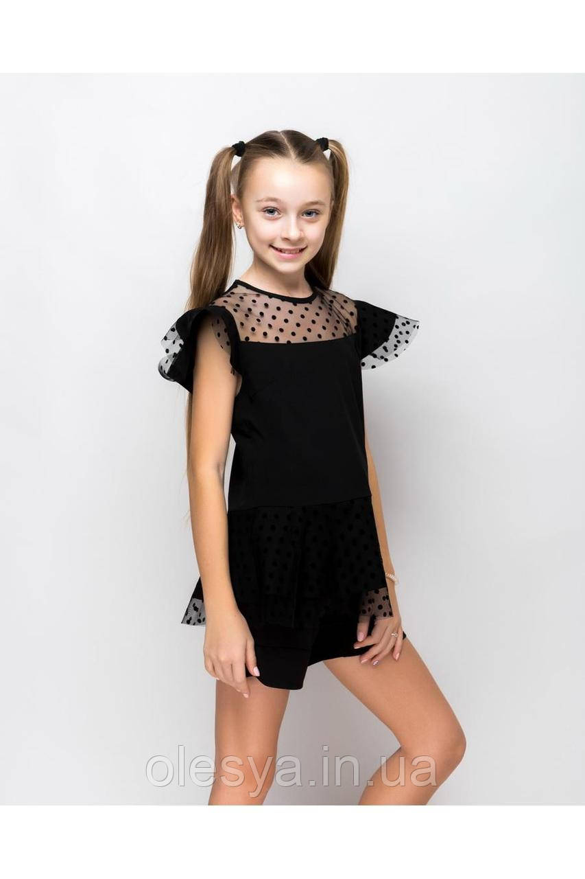 Школьная блуза для девочек sh71 Barbarris Размеры 134-164