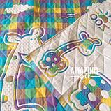 Дитяче ковдру | простирадло | плед натуральний | льон , бавовна | Дитяче літнє одіяло, простинь. Розмір 110*110см., фото 4