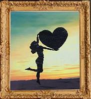 """Алмазная картина """"Девушка с сердцем"""""""