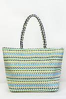 Соломенная женская сумка для пляжа в ретро стиле , фото 1