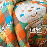 Дитяче ковдру   простирадло   плед натуральний   льон , бавовна   Дитяче літнє одіяло, простинь. Розмір 110*110см., фото 5
