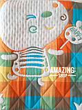 Дитяче ковдру   простирадло   плед натуральний   льон , бавовна   Дитяче літнє одіяло, простинь. Розмір 110*110см., фото 6