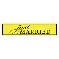 Наклейка на авто — Just Married