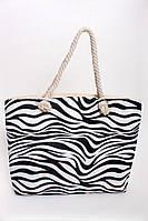 Пляжная женская сумка в животный принт зебра, фото 1
