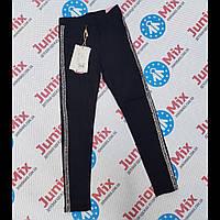 Подростковые котоновые  синие брюки для девочек оптом  GRACE