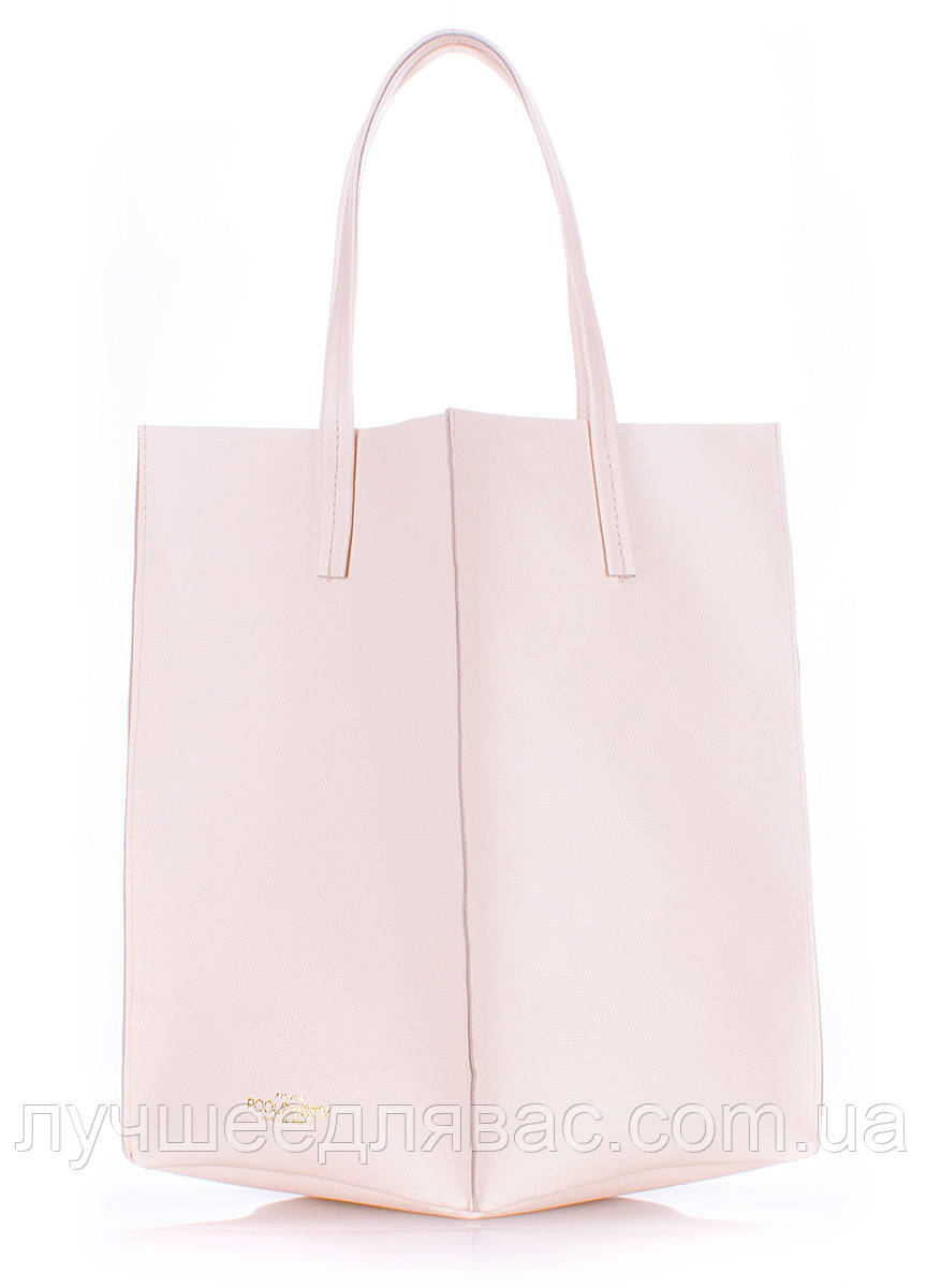 Кожаная сумка POOLPARTY art. milan-safyan-cream, фото 1