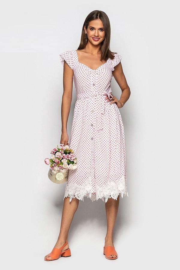 Платье Кружево Горох 4024