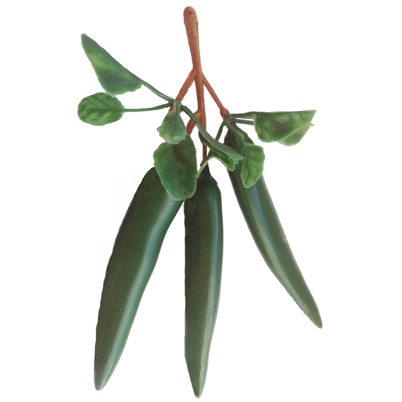 Перец чилли зеленый ветка тройка 17 см